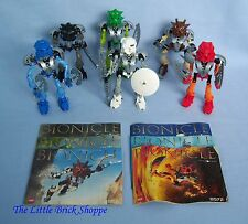 Lego Bionicle 8566-8572 Set of six TOA NUVA - Complete with instructions & mask