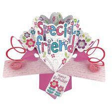 Amigo Especial Cumpleaños Pop-up tarjeta de saludo Original segunda naturaleza Pop Up Tarjetas