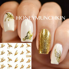 1 Sheet Gold Nail Art Sticker Autocollant De Filigrane Ongle Décoration Papillon