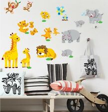 Jungle Animal Wall Decor Vinyl Decal Sticker Removable Nursery Kids Baby Art