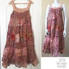 Vintage Style BoHo Gypsy Upcycled Patchwork Summer Sun Dress One Size #01