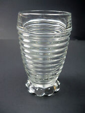 Antique Manhattan Anchor Hocking Glass Co. Depression Glass Crystal 10oz Tumbler
