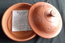 Wieland Ware Tortilla Steamer with Lid Terra Cotta Pottery Wet Clay Cookery