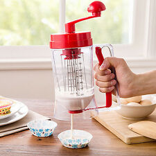 Batter Dispenser For Cupcake pancake Muffin Waffles With Baking Measuring Tool