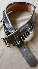 Pre WWI BRITISH MARTINI HENRY RIFLE BANDOLIER-DARK BROWN