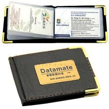 New Pocket Leatherette Business Credit Card ID Holder Wallet 60 Case