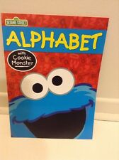 Sesame Street Alphabet Educational Book In Color With Cookie Monster NEW
