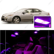 For Acura TSX 09-14 Pink LED Interior Kit + Pink License Light LED