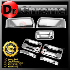 04-08 Ford F150 Chrome HALF Mirror+2 Door Handle+keypad+PSG KH+Tailgate Cover