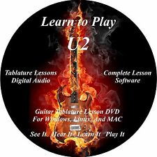U2 Guitar TABS Lesson CD 198 Songs + Backing Tracks + BONUS with Videos!