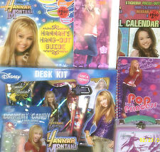 NEW HANNAH MONTANA TOY LOT easter CHRISTMAS BIRTHDAY PLAYSET SCHOOL SUPPLIES