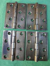 4 charnières laiton ancienne hauteur 10,2 cm portes