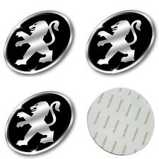 4x Stickers Caps 56mm For Peugeot Centre Hub Wheel Cap Emblem Sticker - UK Stock
