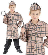 Childrens Kids Sherlock Holmes Fancy Dress Costume Detective Outfit Book Week L