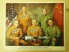 NASA 1975 Apollo Soyuz Test Project Prime Crewmen with Autographs Stafford ...