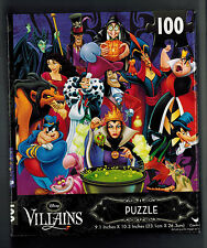 Disney Villiains 100 pieces Cardinal Jigsaw Puzzle New In Sealed Box!