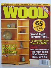 Wood Magazine Dec/Jan 2007/2008 Issue 181 Harvest Table Canisters Coin Display