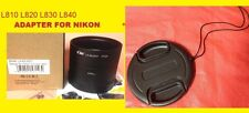 2 PART ADAPTER TUBE+LENS CAP 62mm for CAMERA NIKON COOPLIX L820 L810 L830 L840