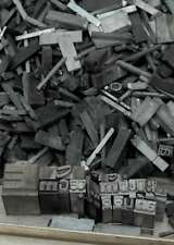 4,4 kg caractères en plomb lettres typographie imprimerie letterpress tampon