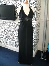 Prom Dress Black Long and beaded Size 6-8 Dave & Johnny by Laura Rvner Very Posh
