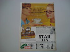 advertising Pubblicità 1963 TE' THE' STAR TEA