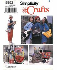 Vintage 1994 Simplicity Crafts Sewing Pattern # 8852 Hand Bags In Seven Styles