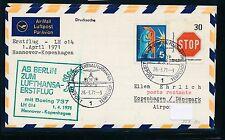 95476) LH FF Hannover - Kopenhagen 1.4.71, Brief ab Berlin