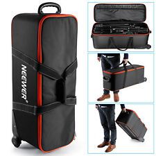 Neewer 30x11x8inch/76x26x20CM All in One Roller Bag for Light Stands, Tripods