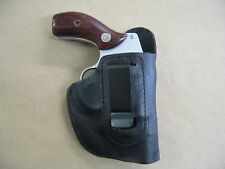 S&W 60, 36, 640, 642, 442 IWB Leather In Waistband Concealed Carry Holster BLACK