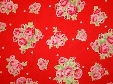 Shabby Flower Sugar 31129 30 Lecien Rose Floral Bundle Bouquet Red Pink Chic 1YD
