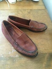 COACH vintage brown leather slip on loafers womens size 8.5M