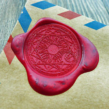 Cardcaptor Sakura Power Wax Seal Stamp Gold Plated Sun Magic wedding logo WS075