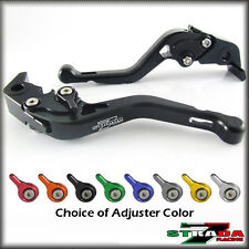 Strada 7 CNC Shorty Adjustable Levers KTM 1190 Adventure / R 2013 - 2014 Black