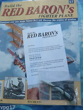 BUILD THE RED BARON'S FIGHTER PLANE FOKKER DR1  HACHETTE  ISSUE 57  NEW SEALED