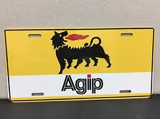 Agip Gas Racing Oil License Plate