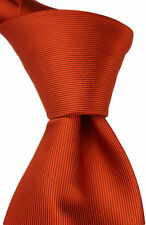 HERMES ORANGE SILK NECKTIE- MADE IN FRANCE