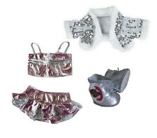 Teddy Clothes fits Build a Bear Bling Dance Outfit & Silver Boots Bears Clothing