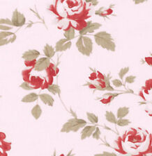 Tanya Whelan Petal Scattered Roses Fabric in Pink PWTW058 100% Cotton