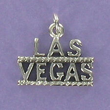 LAS VEGAS Letters Charm Sterling Silver for Bracelet Gambling Vacation Nevada