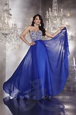 Panoply 14743 Midnight Blue Stunning Pageant Prom Gala Gown Dress sz 8