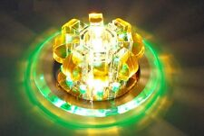 * 3W Diameter 18CM Crystal Rainbow Color LED Light Ceiling Fixture Lighting