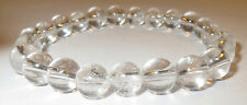 GORGEOUS RARE LIGHT FILLED SATYALOKA AZEZTULITE 8MM ROUND CRYSTAL BRACELET