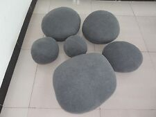 NEW HUGE LARGE BIG GRAY LIVING STONES ROCK SHAPE PILLOWCASES/CUSHION COVER/SHELL