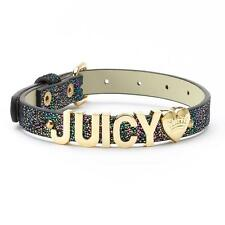 Juicy Couture ''Juicy'' Iridescent Pet Collar - Limited Edition Black NEW in BOX
