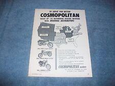 1965 Cosmopolitan Motors Vintage Ad Benelli Sprite Parilla Wildcat Capriolo