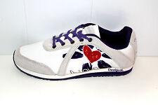 """DESIGUAL Scarpe Sneakers """"Damian"""" in Bianco/Colorato Tg. 39"""