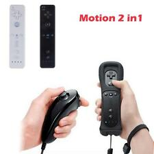 Black Wiimote Built in Motion Plus Inside Remote + Nunchuck Controller For Wii
