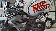 YAMAHA XT660Z Tenere Left Hand single stainless round ROAD LEGAL MTC Exhaust