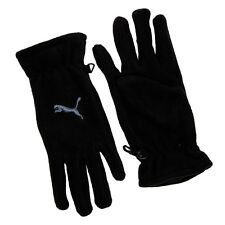 Puma black unisex fleece polyester elasticated sports gloves size Small adults
