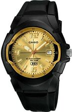 Casio Men's 10 Year Battery Watch, Date, 100 Meter WR, Black Resin, MW600F-9AV